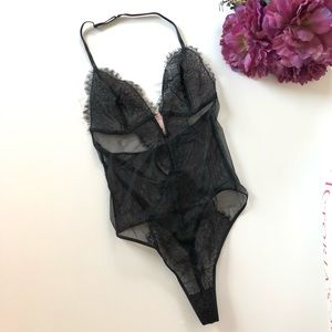 Victoria's Secret Floral Lace Teddy NWT